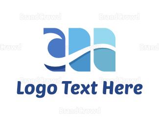 Water - Blue Sea Wave logo design