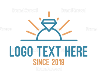 Ring - Elegant Ring Outline logo design