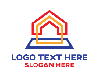 Construction - Rainbow Box House logo design