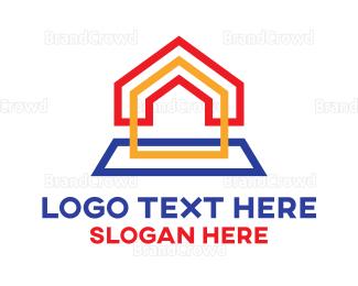 Decoration - Rainbow Box House logo design