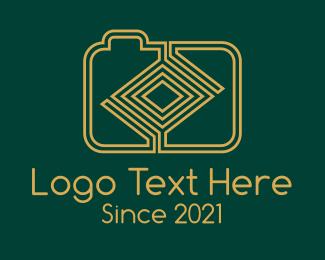 Modern Photographer - Yellow Maze Digicam  logo design