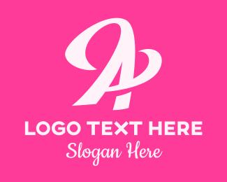 Fashion - Pink Fashion Letter A  logo design