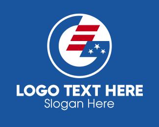 Election - American Letter G  logo design