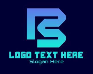 """Digital Tech Letter B"" by RistaDesign"