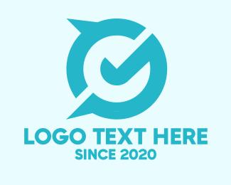 Business Solutions - Modern Tilted Letter G logo design