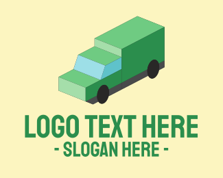 Haulage - Isometric Delivery Truck logo design