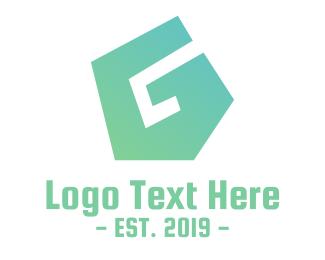 Civil Engineer - Green Polygon G logo design