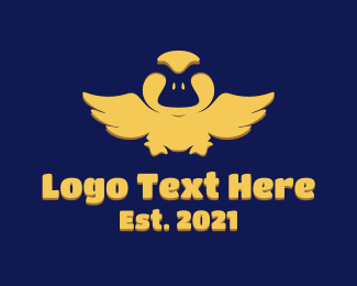 Childcare - Yellow Flapping Duck logo design