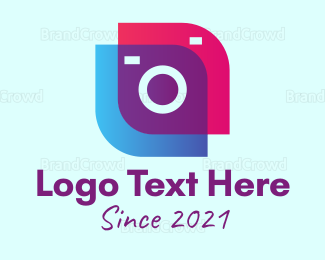 Camera Rental - Stylish Vlog Camera logo design