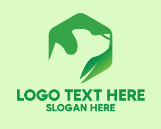 Pet Accessories - Green Leaf Dog logo design