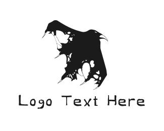 Crow - Raven Ghost logo design