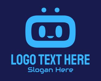 Guide - Blue Tech Droid logo design