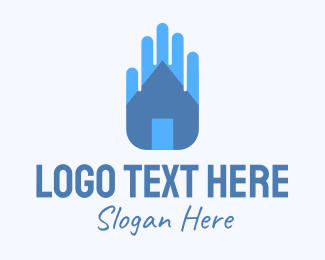 Caregiving - Home Safe Hand logo design