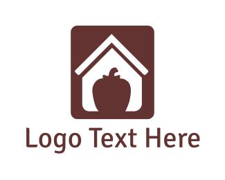 Pepper - Apple House logo design