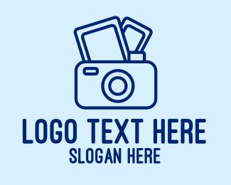 Digital Camera - Blue Film Camera  logo design