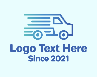 Pickup - Fast Delivery Van  logo design