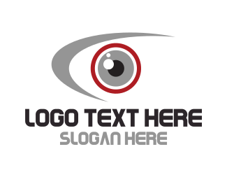 Vivid - Red Eye logo design