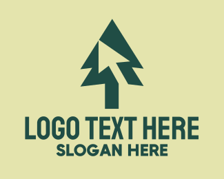 Conifer - Pine Tree Cursor logo design