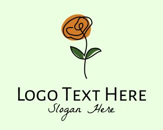 Flower Boutique - Daisy Flower Line Art logo design