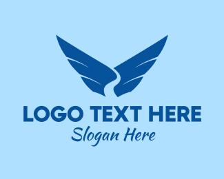 River - Blue River Wings logo design