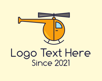 Air Delivery - Yellow Helicopter Toy logo design