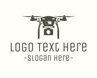 Drone Photography - Brown Drone Camera logo design
