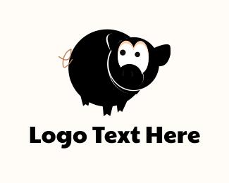 Mask - Ninja Pig logo design