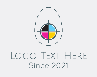 Printer - Egg Print Colors logo design