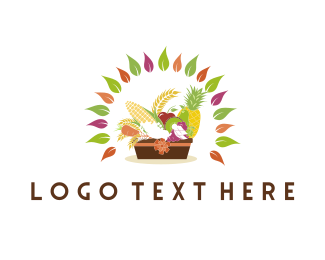 Wheat - Fruit & Vegetable Basket logo design