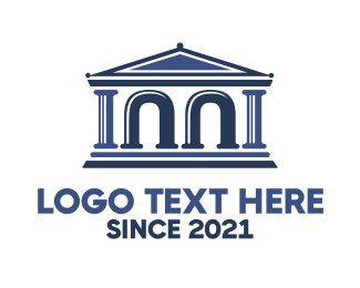 Arch - Legal Arch Parthenon logo design