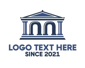 Arch - Legal Arch Parthenon logo design