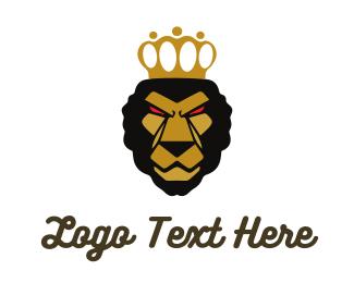Monarch - Determined Lion King logo design