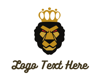 Africa - Determined Lion King logo design
