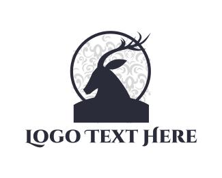 Reindeer - Deer Silhouette logo design