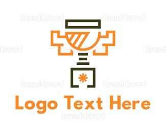 Brass - Modern Trophy logo design