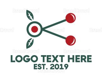 Cherry Tree - Cherry Branch logo design
