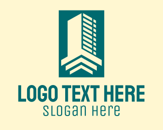 Tenement - Geometric Skyscraper Building  logo design