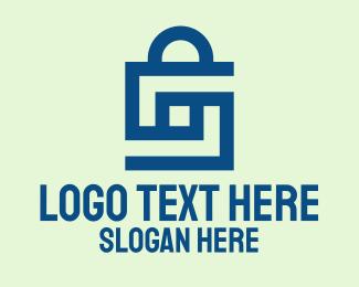 Simple - Blue Letter S Shopping Bag  logo design