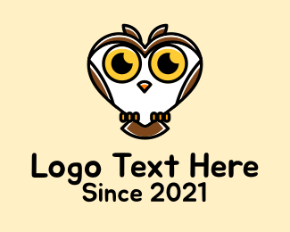 Hooter - Heart Wild Owl  logo design