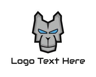 Ai - Metallic Dog logo design