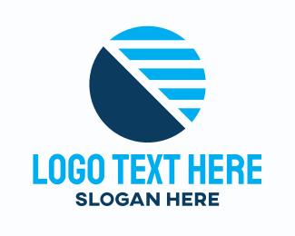 Blue Business Stripes Logo