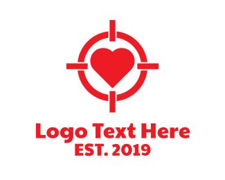 Target - Heart Target logo design