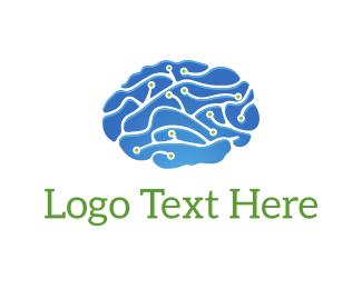 Wire - Circuit Brain logo design