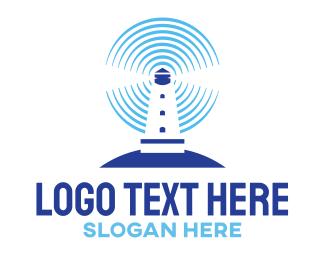 Sonar - Lighthouse Radar logo design