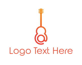 Folk - At & Guitar logo design