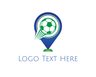 Goal - Soccer Ball Pin logo design