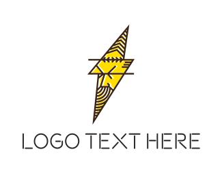 God - Zeus Bolt logo design