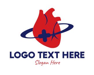 Medical Center - Heart Center Clinic logo design
