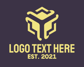 Brand - Abstract Business Cube Company logo design