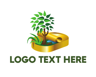 Yellow Leaf - Nature Conservation logo design